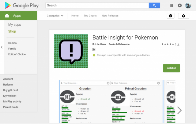 Battle Insight for Pokemon
